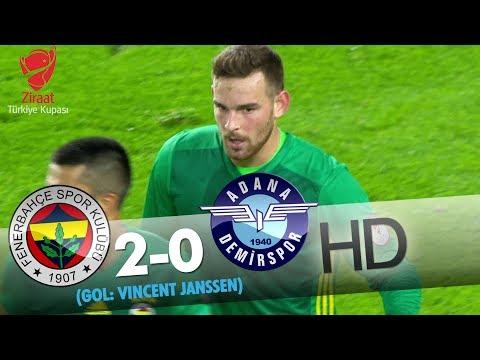 Fenerbahçe: 2 - Adana Demirspor: 0 | Gol: Vincent Janssen