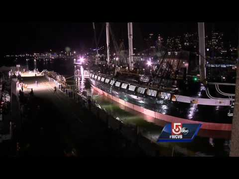 Uncut: USS Constitution leaves dry dock
