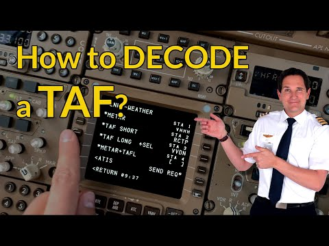 How to DECODE and READ a TAF? Aviation weather! Explained by CAPTAIN JOE