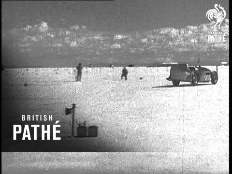 George Eyston Tries Out Thunderbolt At Salt Lake Aka Thunderbolt Tried Out (1937)