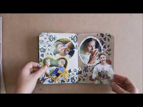 diy wedding album (recycling tomato packaging)