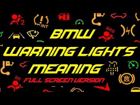 BMW Warning Lights Meaning Full Screen