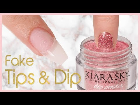 How to Apply Dip Powder With Nail Tips