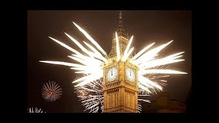 2017 New Year - Big Ben Chimes Midnight