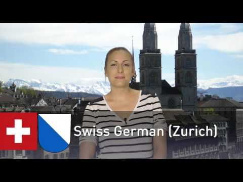 Part 2: English vs. German vs. Swiss German (Zurich) vs. Swiss German (Valais)
