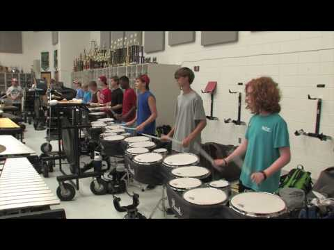 Rehearsing the JIG.... Band Drum Line