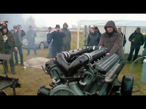 Zvezda M50 63Liter Hubraum V12 Diesel Erster Start Teil1