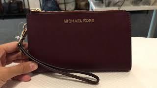 Michael Kors Jet Set Travel Large Double Zip Wristlet
