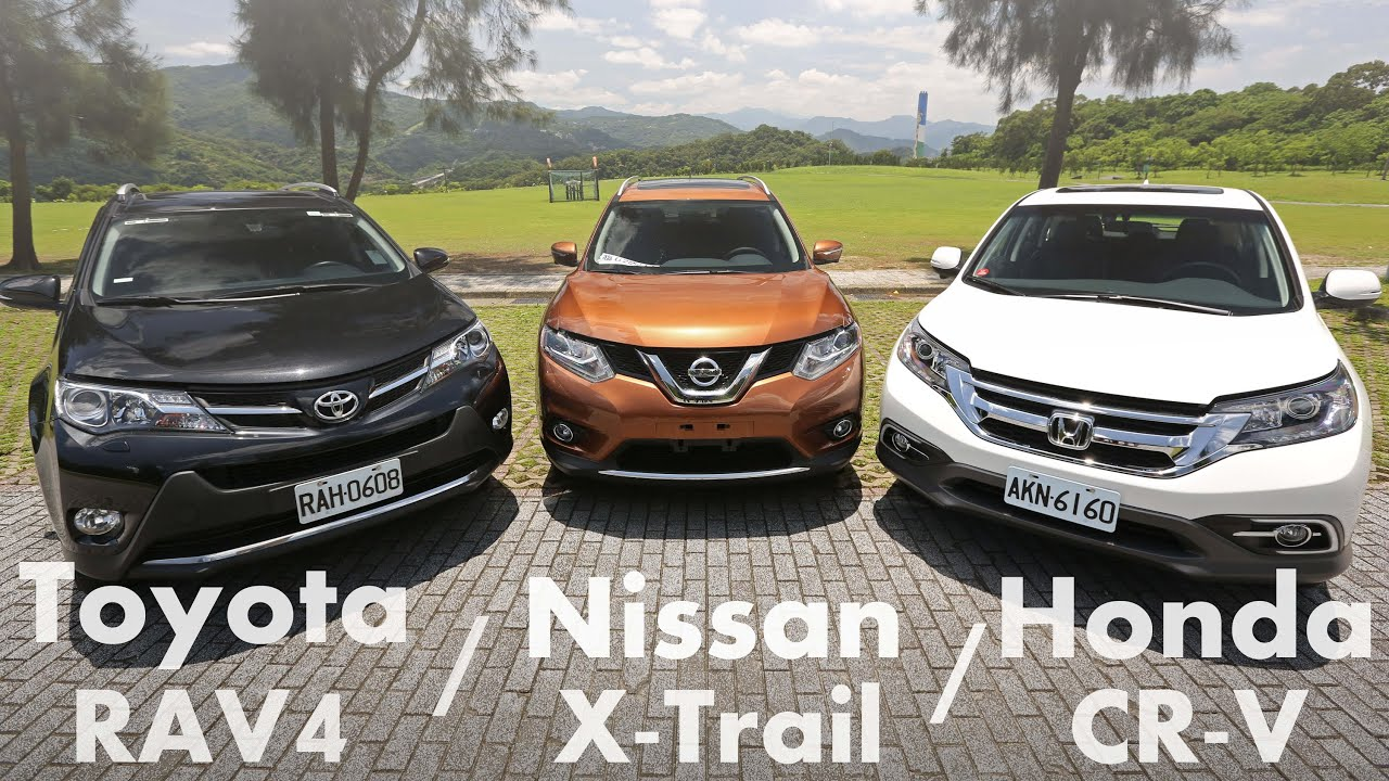 toyota rav4 vs nissan x trail vs honda cr v suv youtube. Black Bedroom Furniture Sets. Home Design Ideas