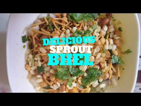 Delicious and Healthy Sprout Bhel/Chat