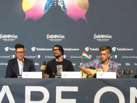 ESCKAZ live in Malmö:Press conference with ByeAlex (Hungary)