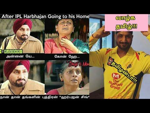 Funny Tamil Memes On Harbhajan Singh S Tamil Love Ipl 2018 Chennai Super Kings Youtube