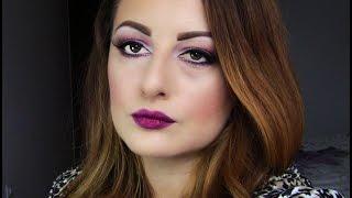 Holiday makeup: Burgandy bold lips and bold eyes Thumbnail