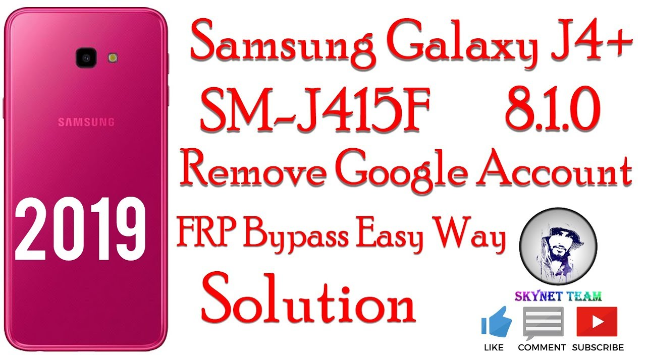 Samsung SM-J415F Android 8.1.0 Oreo Remove Google Account FRP Bypass Easy Way