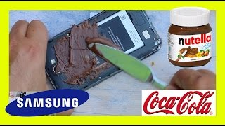 Repeat youtube video Coke + Nutella + Samsung note 2 Experiment