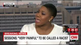 Racist Symone Sanders Thinks Sen Sessions is Being Asked too Soft of ?