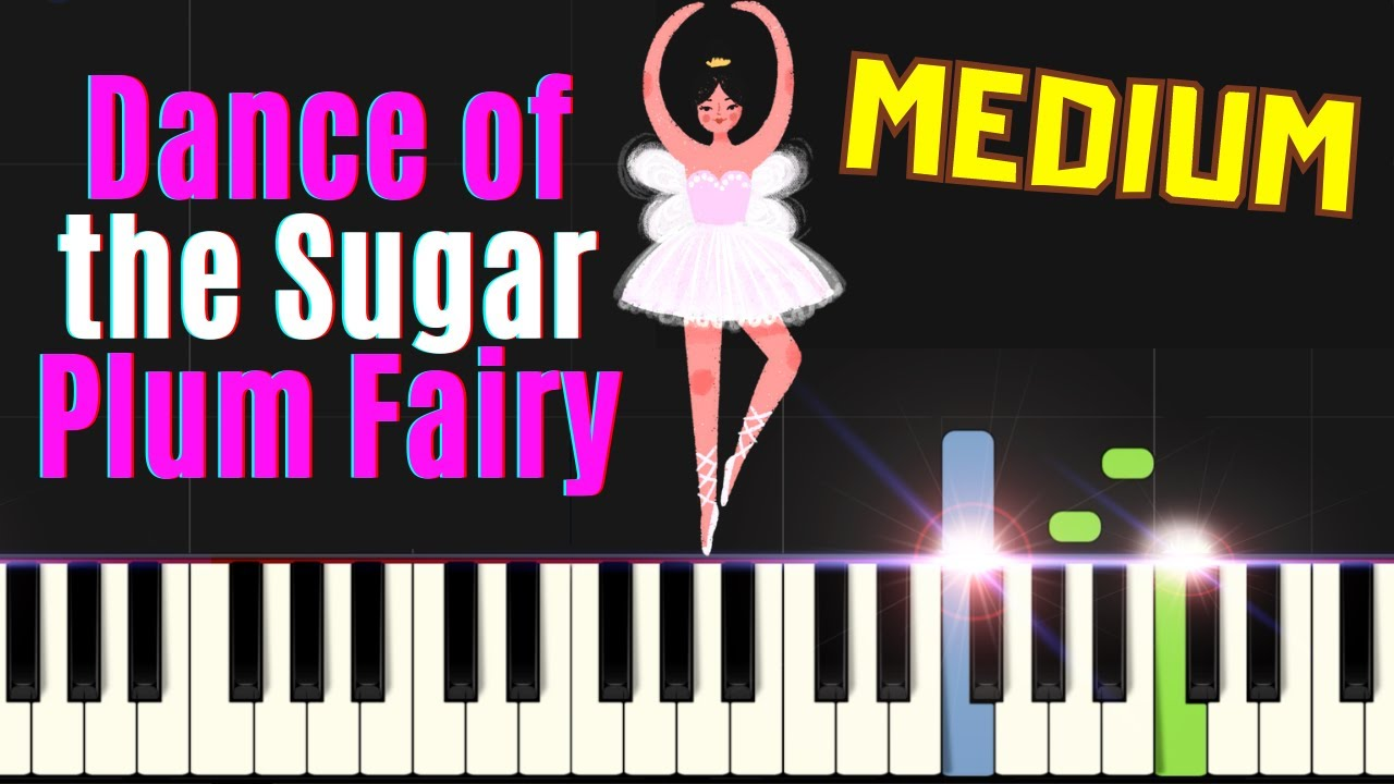 Dance Of The Sugar Plum Fairy Nutcracker Suite Tchaikovsky Easy Piano Sheet Music For Beginners Youtube