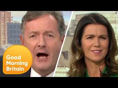 Piers Morgan Tells Off Susanna Reid for Fat Shaming Him | Good Morning Britain