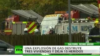 Una explosión de gas deja 15 heridos y destruye 3 viviendas en Inglaterra