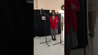 """Sonja Roberts-Hargrove singing 'Who would imagine a King?"""""""