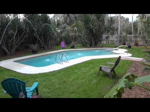 back yard tour florida pool home for sale only 119k