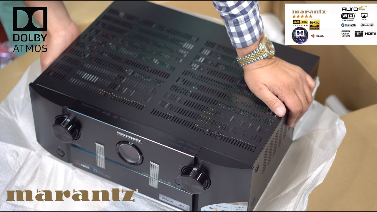 Marantz SR6013, 9 2 Channel A/V Receiver unboxing   OlizStore