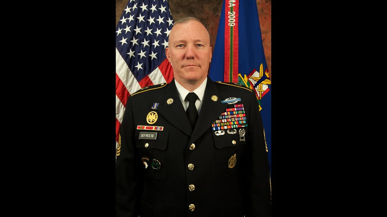 Command Sgt. Maj. Dennis Defreese was the third enlisted commandant of the U.S. Army Sergeants Major Academy. This is a video interview with him about his time at USASMA.