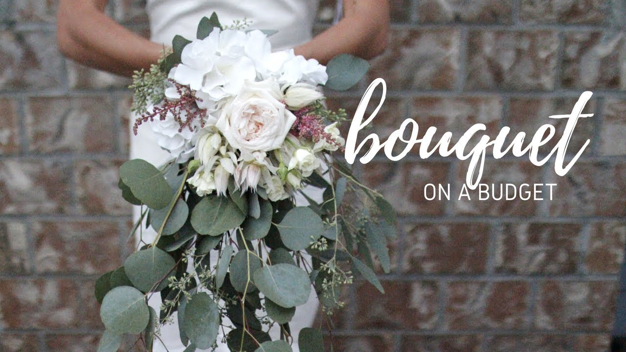 DIY WEDDING BOUQUET 20 Cascading Boho Bouquet  YouTube