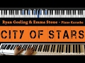 Ryan Gosling Emma Stone City Of Stars Piano Karaoke Sing Along Cover With Lyrics mp3