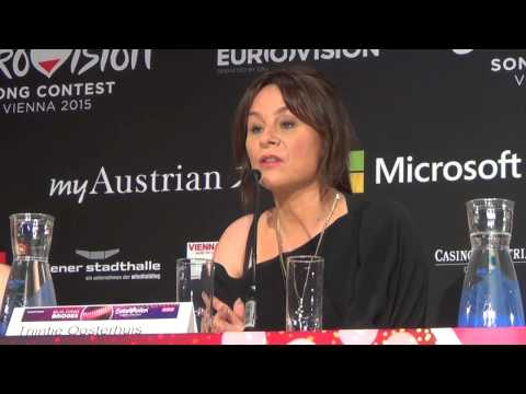 ESCKAZ in Vienna: Press Conference for Trijntje Oosterhuis (The Netherlands)