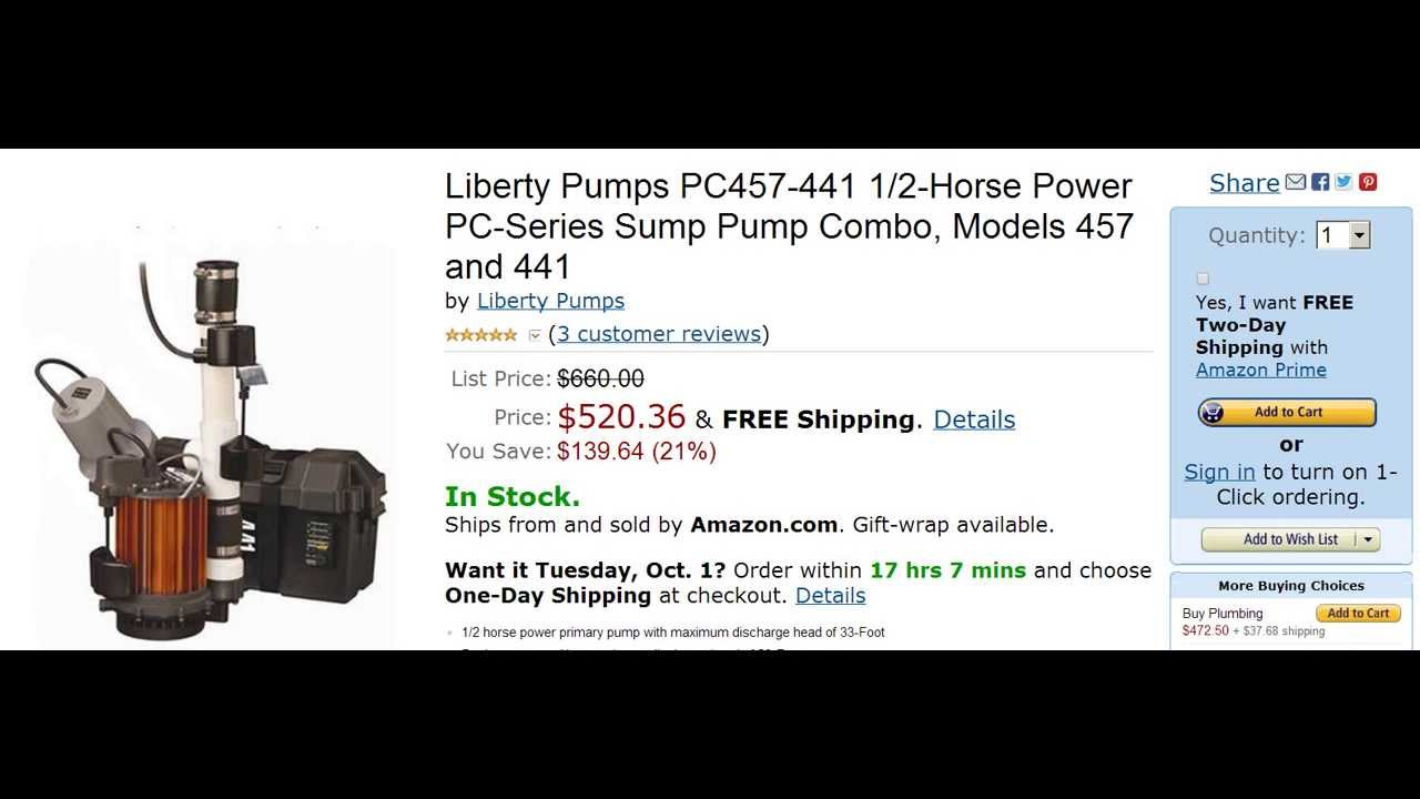 Liberty Pumps PC457441 12Horse Power Sump Pump Combo YouTube