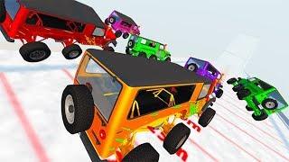 Beamng drive - Epic High Speed Ski Jumping Car Jumps #2