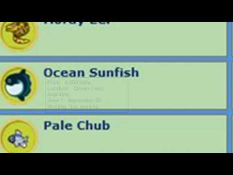 Animal Crossing City Folk Fish Guide