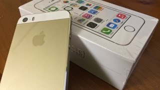Unboxing iPhone 5s Gold Edition 16GB