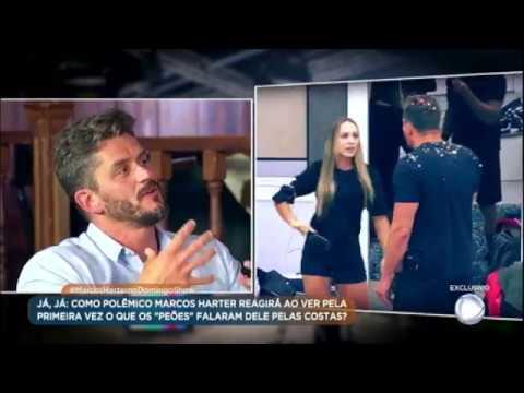 """Marcos fala sobre cusparada que recebeu de Monick: """"Eu pensei: coitada, ela é fraca"""""""