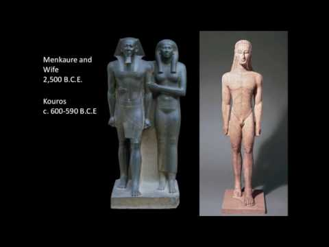 Sculpting about Egyptians and Greeks
