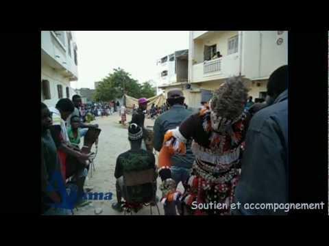 faux lions du Sénégal, jeux spectacle symbolique