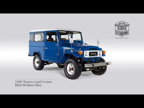 1983 Toyota Land Cruiser BJ46 Medium Blue Restoration Process Full HD