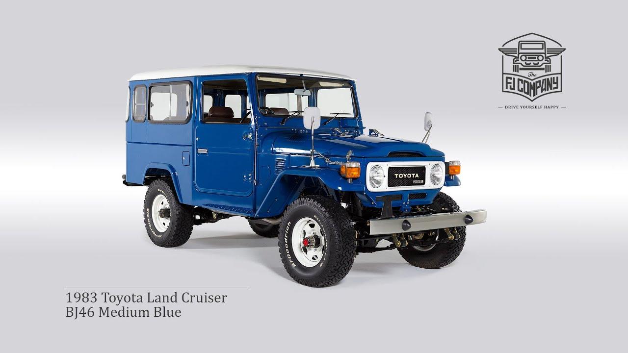 1983 toyota land cruiser bj46 medium blue restoration process full hd