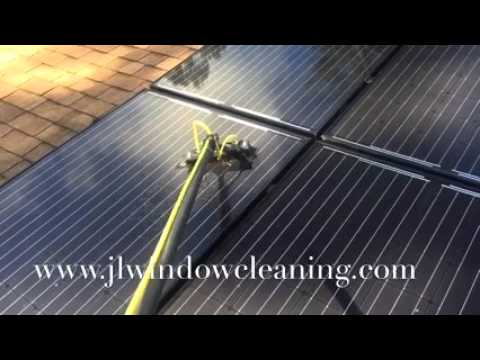 """How To Clean Solar Panels with J&L Professional """"Window Cleaning in Raleigh, NC"""" Roof Washing"""