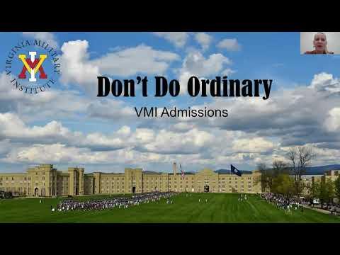 Virginia Military Institute Virtual College Visit