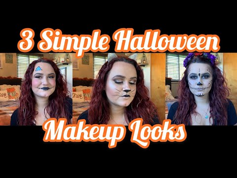 3 Simple Last Minute Halloween Makeup Looks!👻🎃 thumbnail