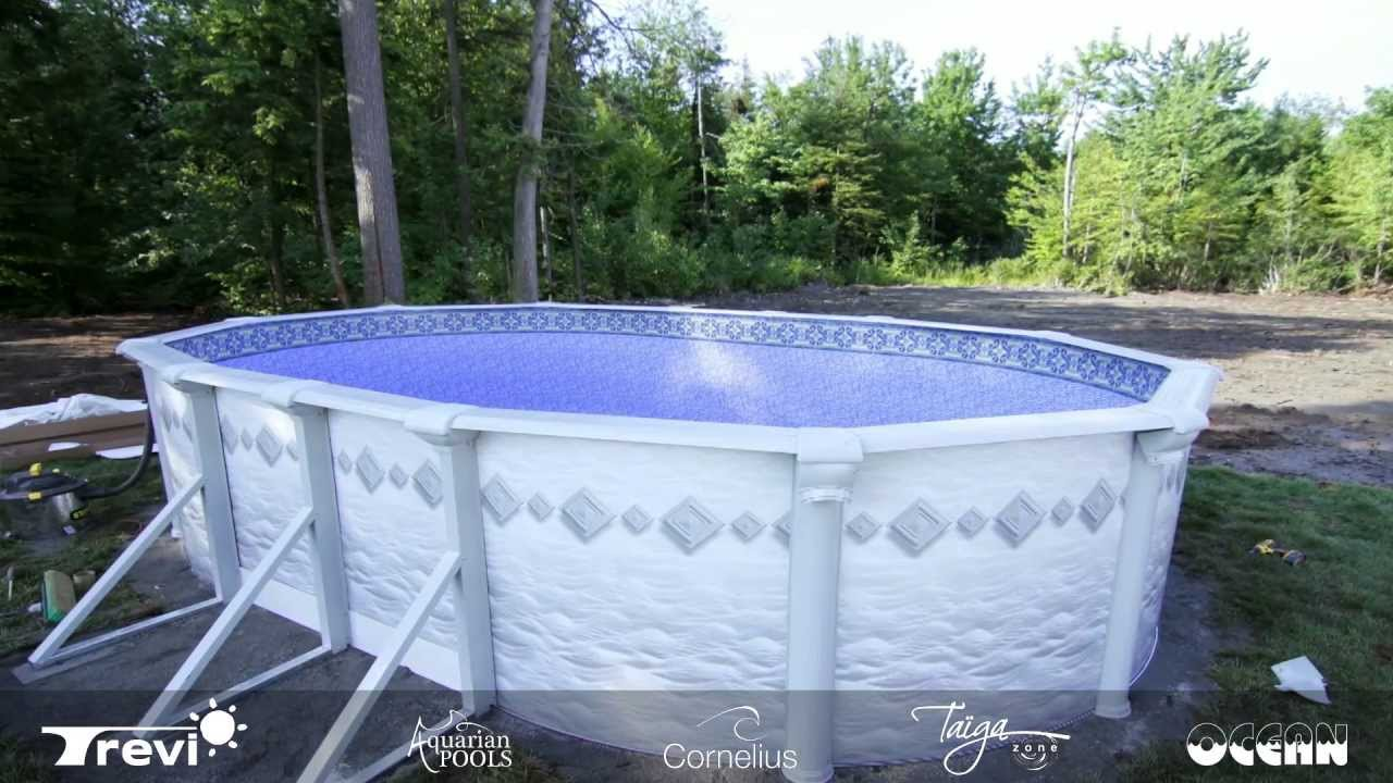 Installation piscine ht ovale youtube - Installation piscine hors sol ...