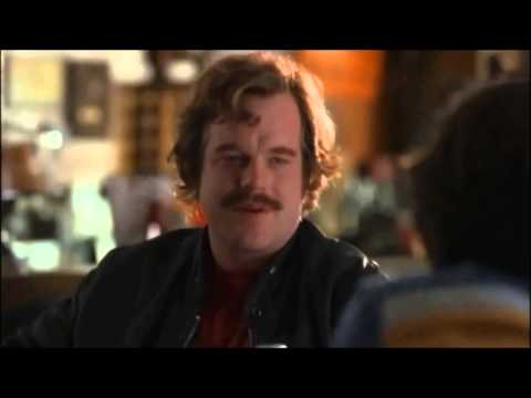 "Philip Seymour Hoffman as Lester Bangs in the film ""Almost Famous."" All scenes."