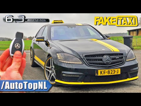 Mercedes S63 AMG W221 *FAKE TAXI* REVIEW POV on AUTOBAHN (NO SPEED LIMIT) by AutoTopNL