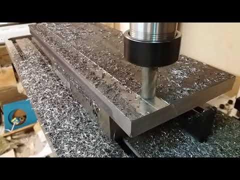 Diy cnc milling machine surfacing with 16mm endmill hss