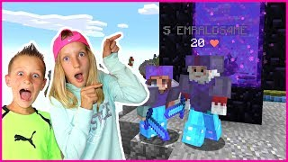 Building Nether Portal in Bed Wars with Ronald