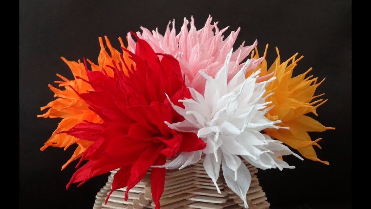 How to make beautiful paper flowers diy valentines day craft youtube premium mightylinksfo
