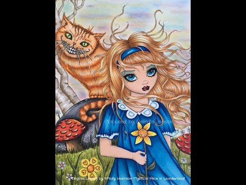 {Adult Coloring Tutorial} Alice in Wonderland Molly Harrison