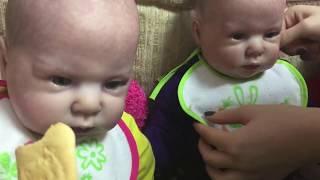 Обложка на видео о День с близнецами. Видео с куклами реборн из молда Кристал.
